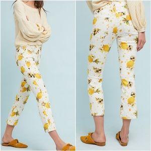 Anthro Pilcro Lemon Grove Cropped Bootcut Jeans 25